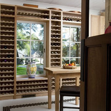 Traditional Wine Cellar by Tongue & Groove