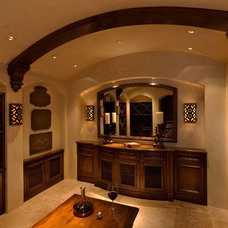 Traditional Wine Cellar by Kathy Bloodworth Interior Design