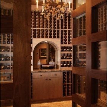 TIle Flooring for Custom Wine Cellar
