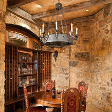 Traditional Wine Cellar by Studio 10 Interior Design