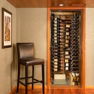 デンバーの小さいトラディショナルスタイルのおしゃれなワインセラー (ワインラック) の写真