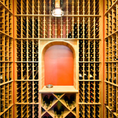 traditional wine cellar by LORRAINE G VALE, Allied ASID