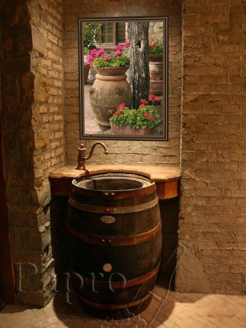 Whiskey Barrel Sink Ideas Pictures Remodel And Decor