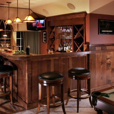 Traditional Wine Cellar by Sharon McCormick Design