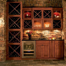 Traditional Wine Cellar by Shenandoah Cabinetry
