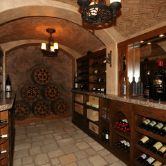 traditional wine cellar by Steigerwald-Dougherty, Inc.