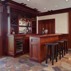 Craftsman Wine Cellar by Patrick LePelch Architecture