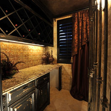 Transitional Wine Cellar by The Design Firm