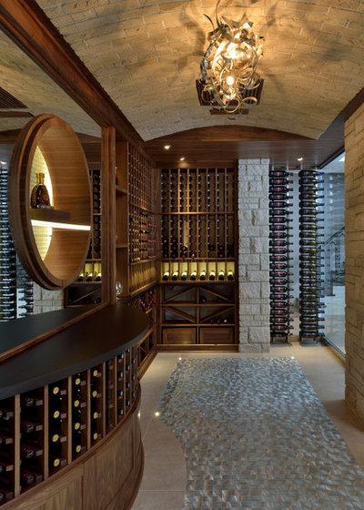 Traditional Wine Cellar by Segreti Design
