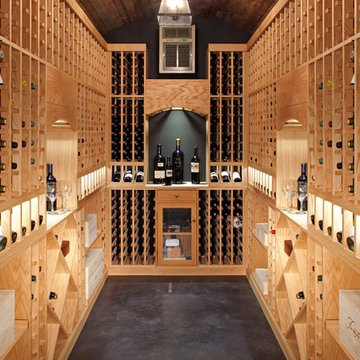 Transitional Wine Cellar