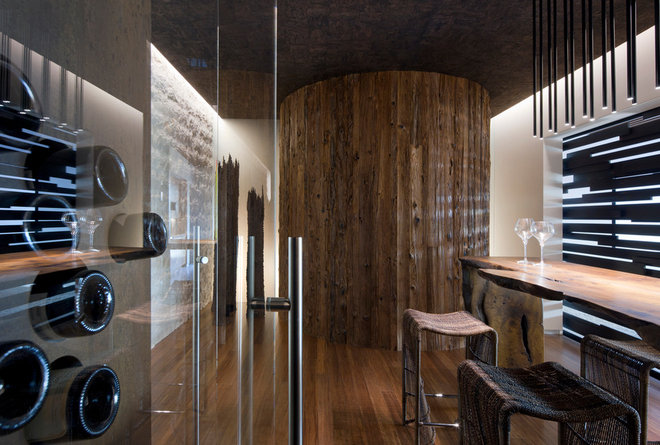 Contemporary Wine Cellar by Assemblage Studio