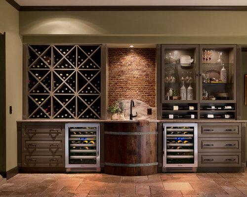 Rustic Wine Cellar Design Ideas, Remodels & Photos