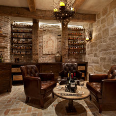 Mediterranean Wine Cellar by Eklektik Interiors