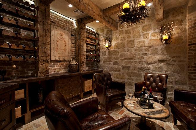 Mediterranean Wine Cellar by Eklektik Interiors