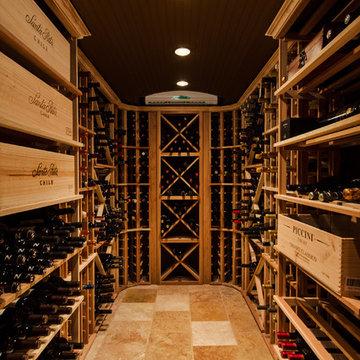 Tuscan-Style Tasting & Wine Rooms