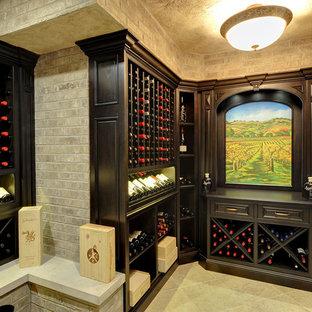 Inspiration for a mediterranean wine cellar in Chicago.