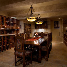 Mediterranean Wine Cellar by Allwood Construction Inc