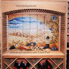 Contemporary Wine Cellar by Linda Paul