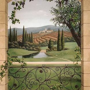 ロサンゼルスの地中海スタイルのおしゃれなワインセラーの写真