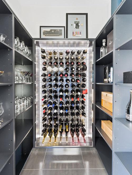 photos et id es d co de caves vin contemporaines avec un sol en carrelage de c ramique. Black Bedroom Furniture Sets. Home Design Ideas