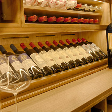 Under Stair Wine Wall with Humidity Control Technology
