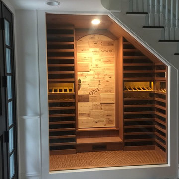 Under staircase wine  closet