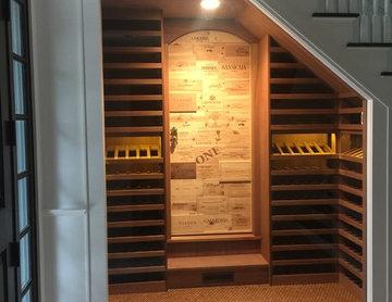 Under staircase wine  closet
