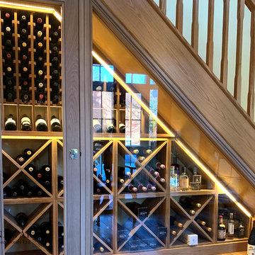 Under stairs wine racking