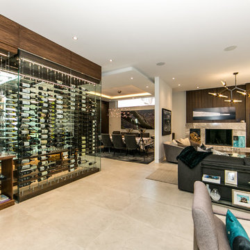 Under The Stairs Glass Enclosed Cable Wine System