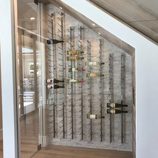 Under the Stairs Glass Wine Cellar