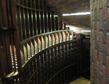 Under the Stairs Wine Cellar Cooling Project for a Home in Dallas