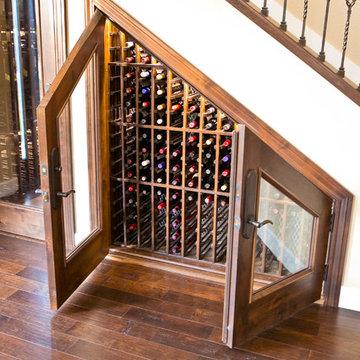 Under the stairway wine cellar