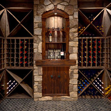 Transitional Wine Cellar by The Nielsen Group Inc