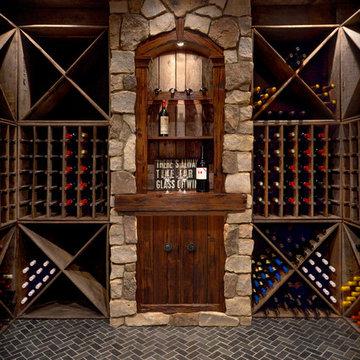 Unique wine cellar and tasting station
