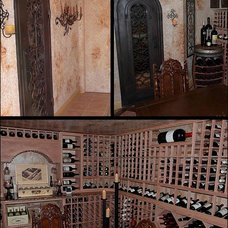Traditional Wine Cellar by Wine Racks America