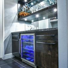 Contemporary Wine Cellar by Pearl Design