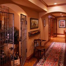 Traditional Wine Cellar by Vujovich Design Build, Inc.