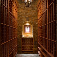 Rustic Wine Cellar by Ulf & Associates