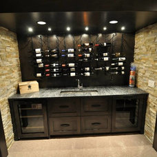Contemporary Wine Cellar by Moda Kitchens & Cabinets Inc