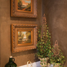 Traditional Wine Cellar Venetian Plaster Butler's Pantry
