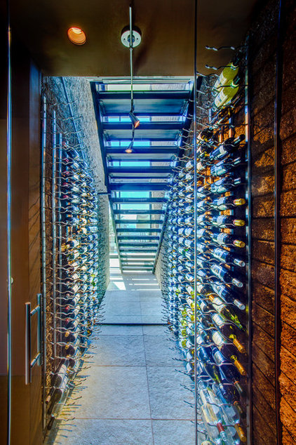 Modern Wine Cellar by Kevin B Howard Architects, AIA