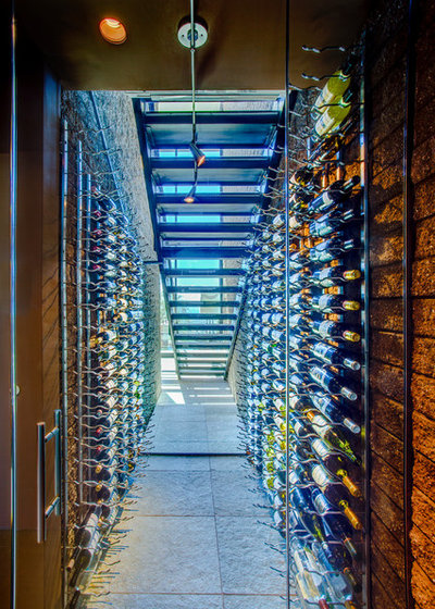 Contemporary Wine Cellar by Kevin B Howard Architects, AIA