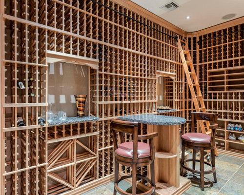 inspiration for a southwestern wine cellar remodel in phoenix with storage racks - Wine Cellar Design Ideas
