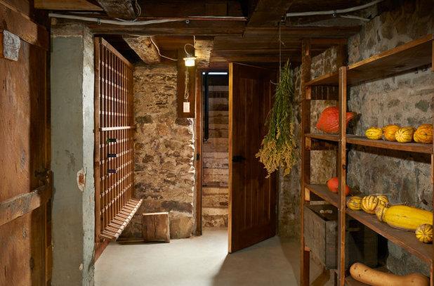 Rustic Wine Cellar by Tucker Homes