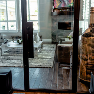 View from Inside the Dallas Contemporary Wine Cellar