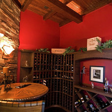Eclectic Wine Cellar by Blue Sky Building Company