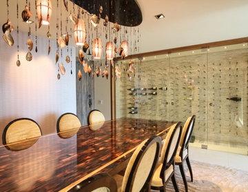 Vin de Garde Custom Modern Wine Cellar (Nek Rite Series, Glass)