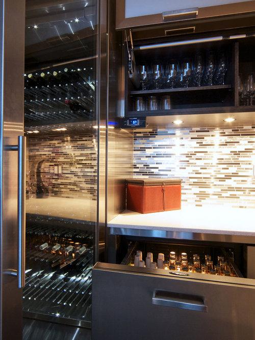 custom stainless steel wine fridge. Black Bedroom Furniture Sets. Home Design Ideas