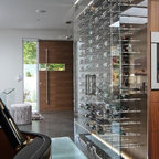 All Glass Wine Cellar - Modern - Wine Cellar - Vancouver - by Blue Grouse Wine Cellars