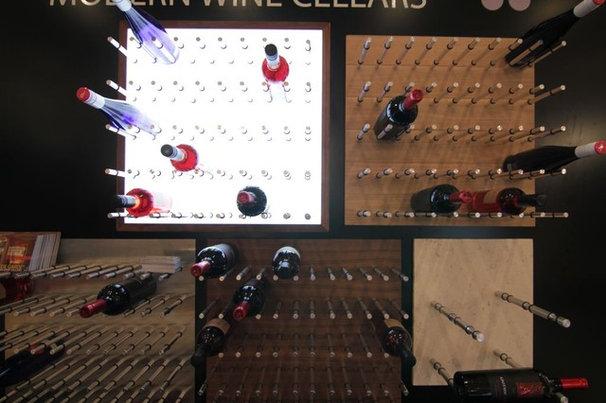 Contemporary Wine Cellar by Vin de Garde MODERN WINE CELLARS Inc.